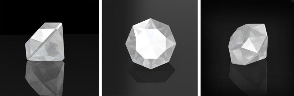 Mazarin or double cut diamond example