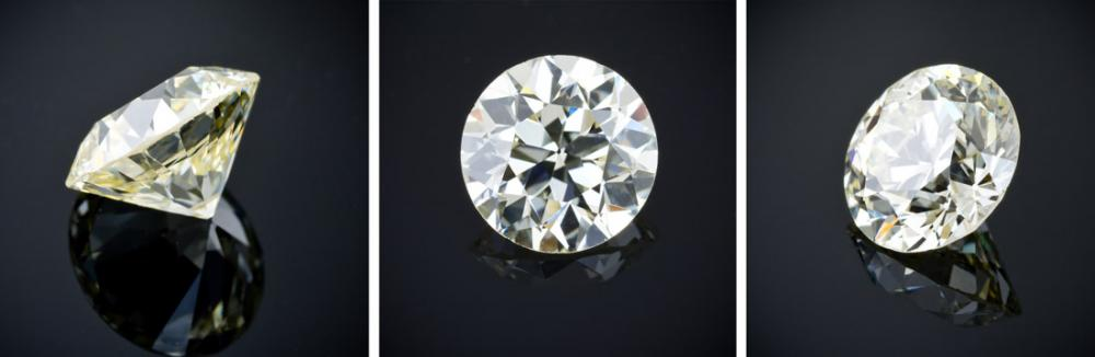 Old European cut diamond example
