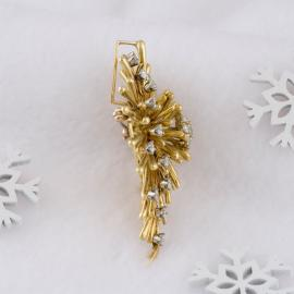 Vintage Diamond Cluster Convertible Brooch or Pendant - 3