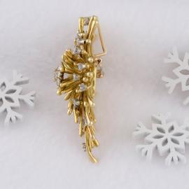 Vintage Diamond Cluster Convertible Brooch or Pendant - 4
