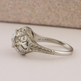 Antique Diamond Ring with Filigree Accents - 3