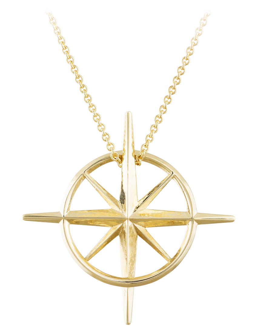 True North : Yellow Gold North Star Necklace