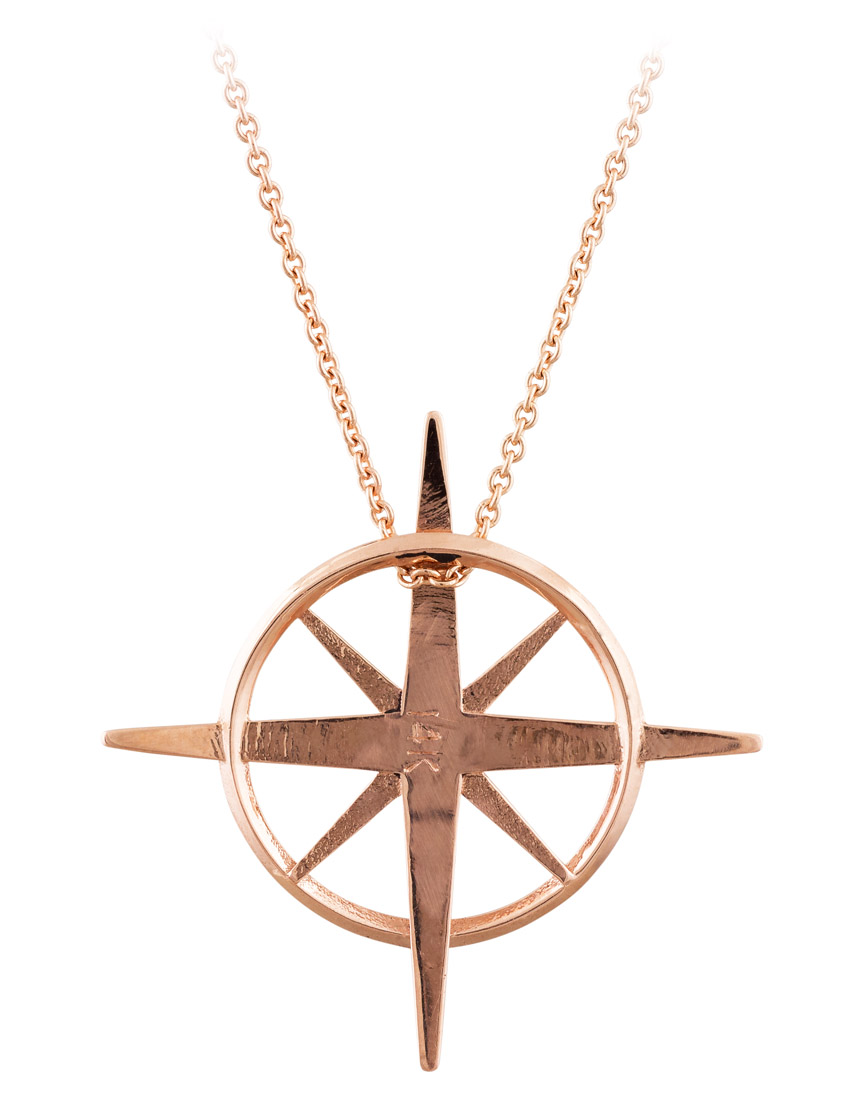True North - North Star Necklace in Rose Gold - Back
