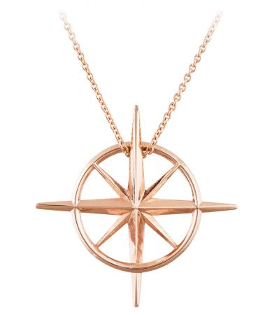 True North : Rose Gold North Star Necklace