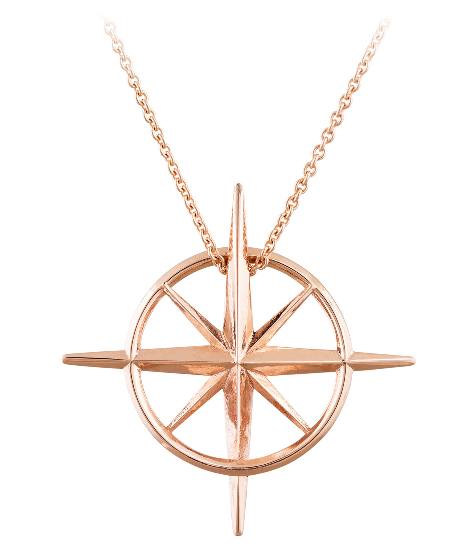 True North - North Star Necklace in Rose Gold