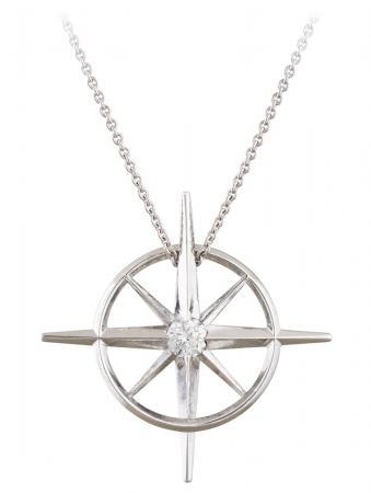 True North : Diamond North Star Necklace