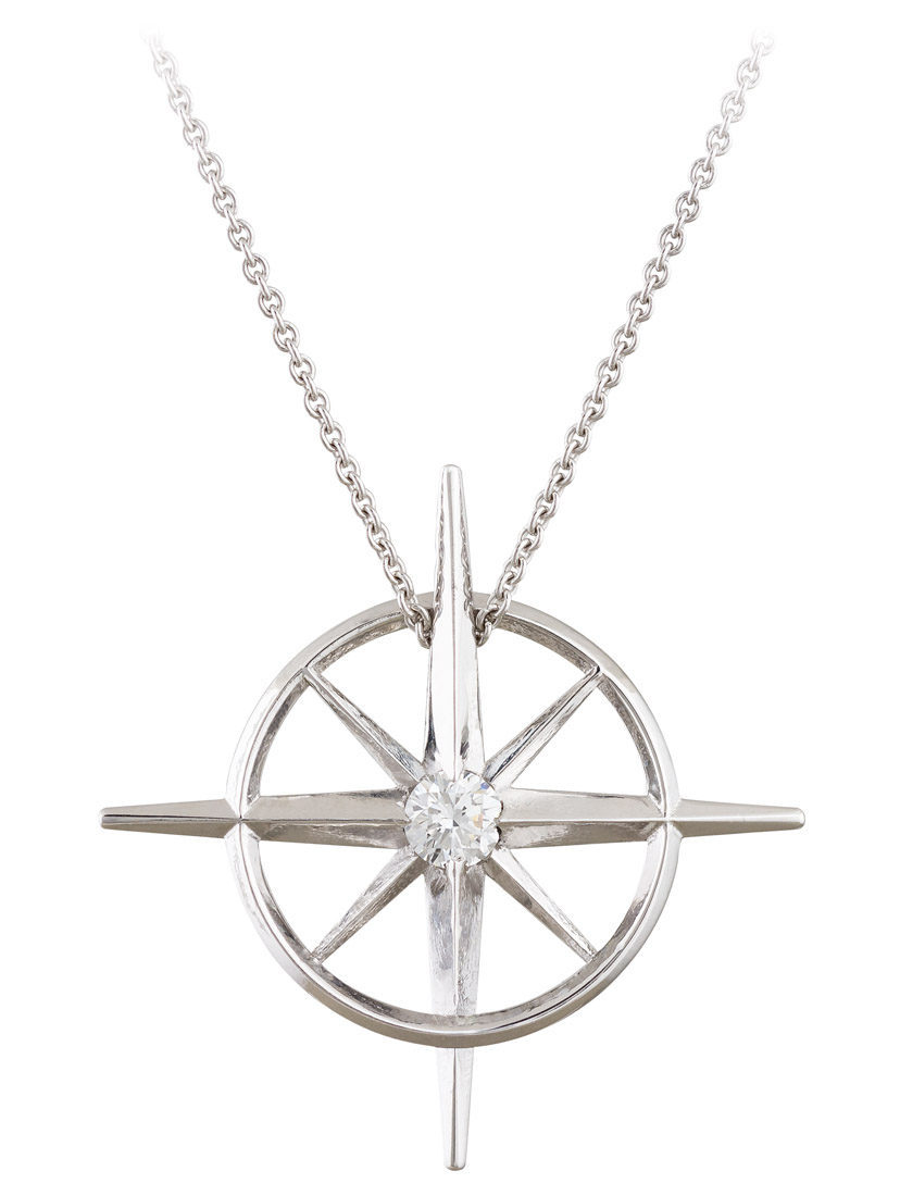 True North : Diamond North Star Necklace