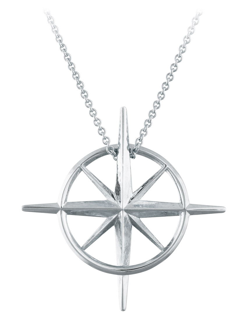 True North : Sterling Silver North Star Necklace