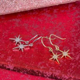 North Star Diamond Dangle Earrings - 2