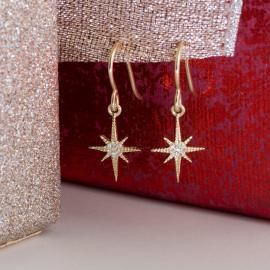 North Star Diamond Dangle Earrings - 3