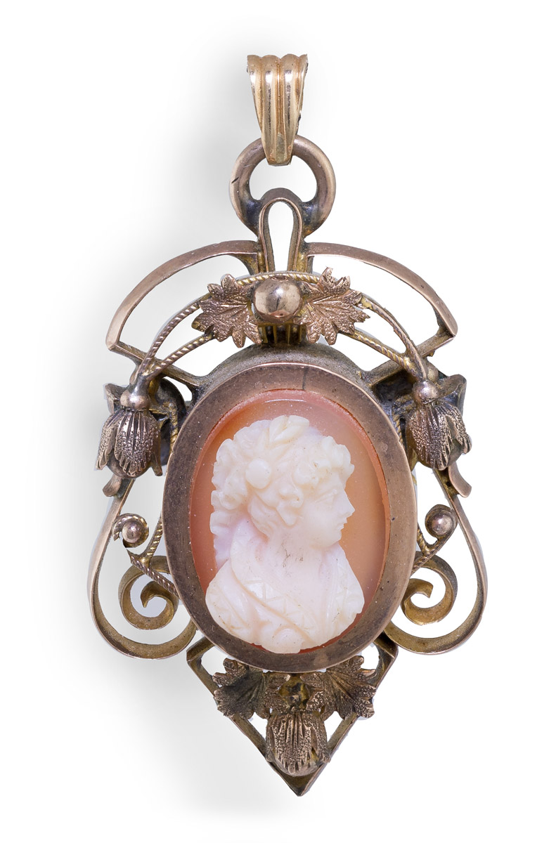 Vintage Cameo Convertible Brooch and Pendant
