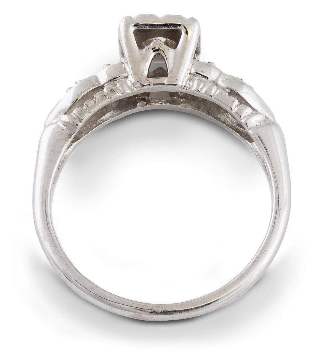 Vintage Diamond Engagement Ring with Illusion Setting