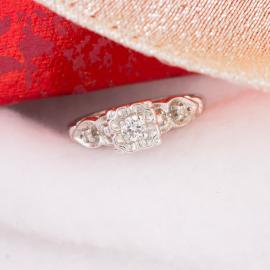 Vintage Diamond Engagement Ring with Illusion Setting - 1