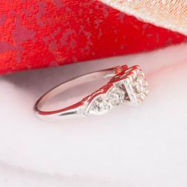 Vintage Diamond Engagement Ring with Illusion Setting - 2