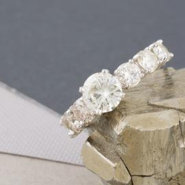 Custom Seven Stone Diamond Engagement Ring