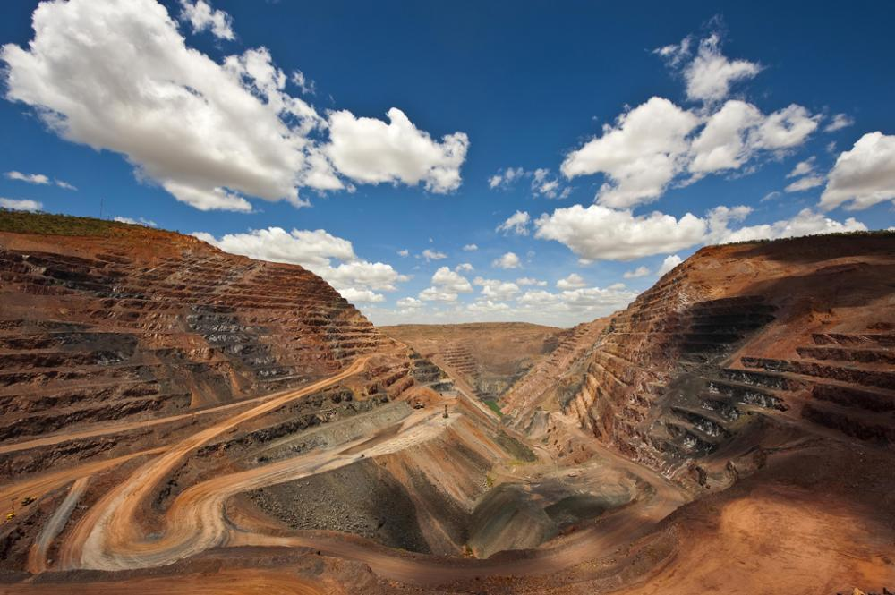 The Argyle diamond mine in Australia