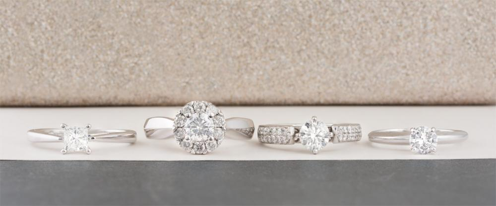The different parts of an engagement ring