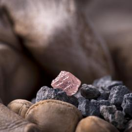Pink diamond from the Argyle mine
