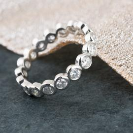 Diamond Bezel Eternity Wedding Band