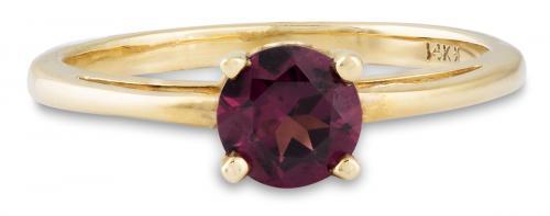 Purple Sapphire Filigree Solitaire Ring