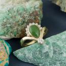 Nephrite Jade Ring with Diamond Accents-2