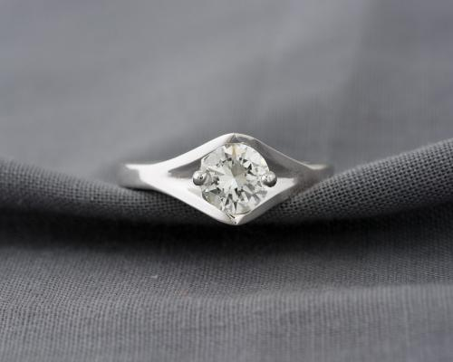 Custom Diamond Solitaire Engagement Ring