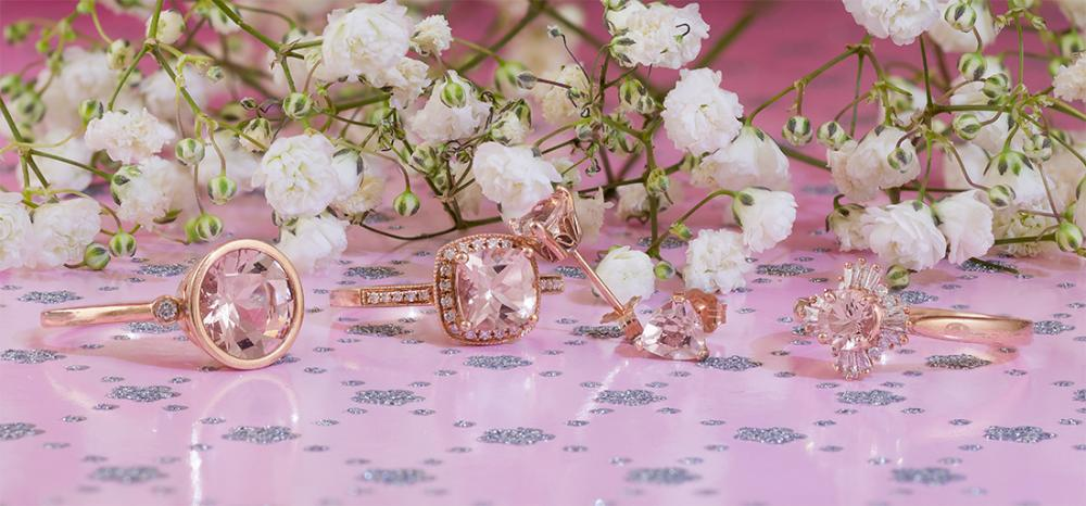Morganite Valentines Day jewelry gifts