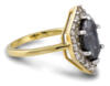 Salt and Pepper marquise diamond engagement ring - side