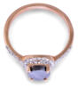 Salt and pepper pear diamond rose gold engagement ring - top