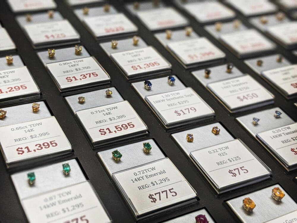 Stud earrings on sale