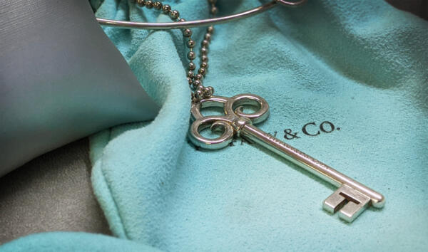 Tiffany and co key pendant