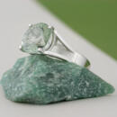 Custom Platinum Prasiolite Solitaire side