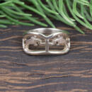 Custom horse white gold band Front view of ring